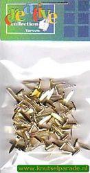 Brads vierkant goud 50 stuks 10828/12 (Locatie: 1A )