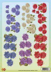 Card Deco knipvel bloemen CD10142 (Locatie: 2556)