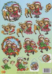 Card Deco knipvel kerstmis HJ6801 (Locatie: 1201)