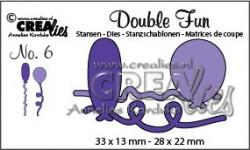 Crealies stansmal twee ballonnen CLDF06 (Locatie: K176)