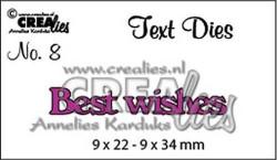 Crealies tekststans Best Wishes CLTD08 (Locatie: C380)