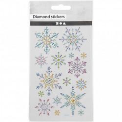 Diamond stickers, vel 15x16,5 cm (Locatie: 2201)