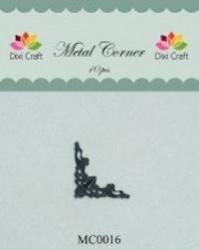 Dixi Craft Metal Corner 22x22 mm zwart 10 stuks MC0016 (Locatie: B376 )