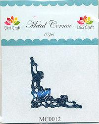 Dixi Craft Metal Corner 42 mm x 42 mm zwart 10 stuks MC0012 (Locatie: B380)