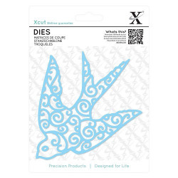 Docrafts Xcut snij-en embosmal Filigree Swallow XCU503292 (Locatie: M117)