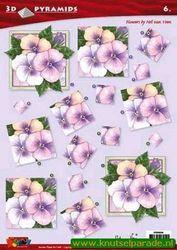 Doodey knipvel pyramids bloemen DV96006 (Locatie: 6821)