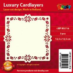 Doodey oplegkaarten kerstrand ivoor 3 stuks BPM5716 (Locatie: K053)