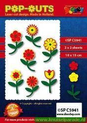 Doodey pop outs bloemen SPC5941 (Locatie: L170 )