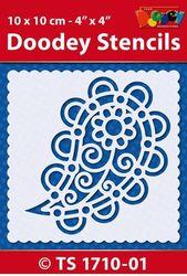 Doodey Stencil Paisley 10 x 10 cm TS1710-01 (Locatie: 4630)
