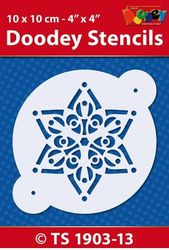 Doodey Stencil Star 10 x 10 cm TS1903-13 (Locatie: 4630)