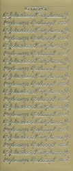 Doodey stickervel diploma/rijbewijs/geslaagd goud DD1451 (Locatie: L240)