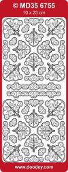 Doodey stickervel hoekjes/rand transparant zilver MD356755 (Locatie: ZZ020 )