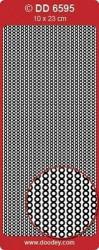 Doodey stickervel randje zilver/goud DD6595 (Locatie: c015)