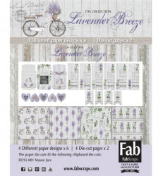 FabScraps Card Kit Lavender Breeze MC96001A (Locatie: 4227)
