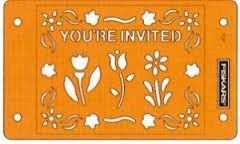 Fiskars Embossing Stencil Set You're Invited 5672 (Locatie: 4RR3 )