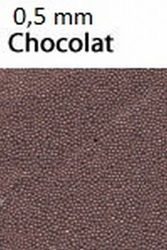 Glaskorrels 0,5 mm 25 gram Chocolat 21950 (Locatie: 4RT13 )