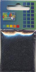 Glaskorrels 0,5 mm 25 gram zwart 21953 (Locatie: 4RT13 )