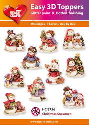 Hearty Crafts Easy 3D Toppers Christmas Snowmen HC8756