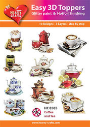 Hearty Crafts Easy 3D Toppers Coffee and Tea HC8585