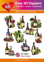Hearty Crafts Easy 3D Toppers - Wijn HC10064 (Locatie: K2)