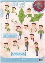 Hobby Idee knipvel beterschap/mannen HI0111 (Locatie: 2442)