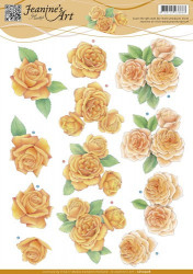 Jeanine's Art knipvel oranje rozen CD10908 (Locatie: 4303)