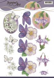 Jeanine's Art knipvel vlinders en bloemen CD11097 (Locatie: 2671)