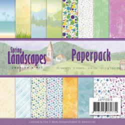 Jeanine's Art, Paperpack, 15.2 x 15.2 cm, Spring landscapes JAPP10010