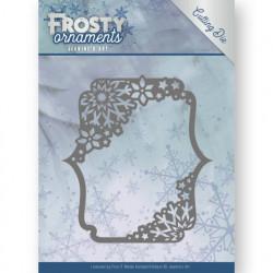 Jeanine's Art snij- en embosmal Frosty Ornaments - Rectangle Ornament JAD10042 (Locatie: M148)