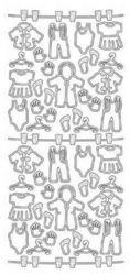 JeJe sticker baby/babykleertjes zilver 640 (Locatie: H389)