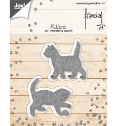 Joy! Crafts snij- en embosmal Franciens kittens 6002/0319 (Locatie: M022)