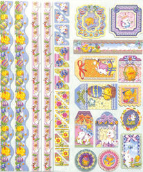 Joy!Crafts Sparkling Embossed stickers Pasen 6013/0020 (Locatie: 1RA1)