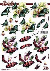 Le Suh knipvel vlinders/bloemen 8215 698 (Locatie: 346)