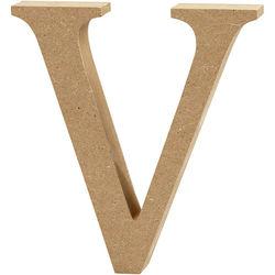 Letter V, hoogte 13 cm, dikte 2 cm, MDF, 1stuk (Locatie: KB)