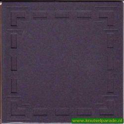 Lomiac dubbele kaart d.blauw met open blokjesrand 3 stuks LC3104 (Locatie: Y034)