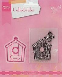 Marianne Design Collectables mal en clearstamp Birdhouse home COL1309 (Locatie: H383 )