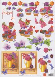 Marianne design knipvel bloemen 3DFK 1238 (Locatie: 4730)