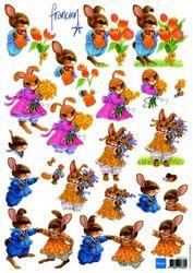 Marianne Design knipvel konijnen 3DFK 1240 (Locatie: 5932)