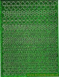 Multi dots sticker holografisch groen (Locatie: 6846)