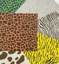 Origami Papier, dierenprint, 24 vellen, 6 patronen, 150x150mm