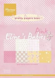 Pretty Papers bloc Eline's babies pink A4 PB7050 (Locatie: S2)