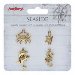 Scrapberry's metalen bedels Seaside goudkleur SCB250001061 (Locatie: 1G )