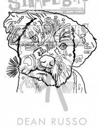 Stamplistic, rubber stempel, hond, Quincy-004 (Locatie: NN041)