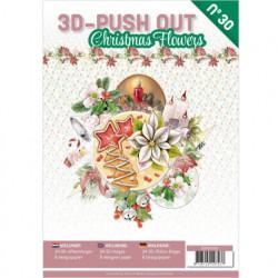 Stansboek Christmas Flowers, 24 afbeeldingen en 8 designpapier, 3DPO10030 (Locatie: 4545)