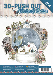 Stansboek Winter Collection, 24 afbeeldingen en 8 designpapier, 3DPO10004 (Locatie: 1220)