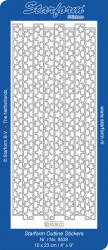 Starform sticker kerst zilver 8538 (Locatie: B281)