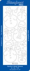 Starform sticker sneeuwpoppen velvet rood 7105 (Locatie: C305)