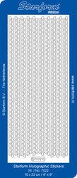 Starform Sticker Transparant Glitter Zilver Lijntjes 7022 (Locatie: G261)