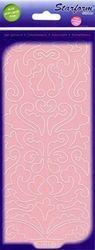 Starform sticker velvet barok krullen pink 7111 (Locatie: B362)