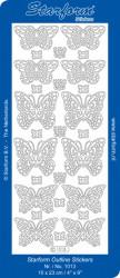Starform sticker zilver vlinders 1013 (Locatie: Q162)